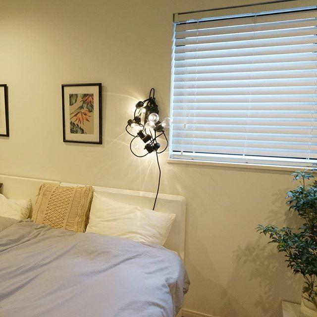 寝室インテリア IKEA ライト