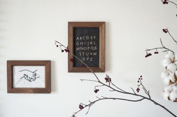 刺繍作品 ディスプレイ ダイソー フレーム2