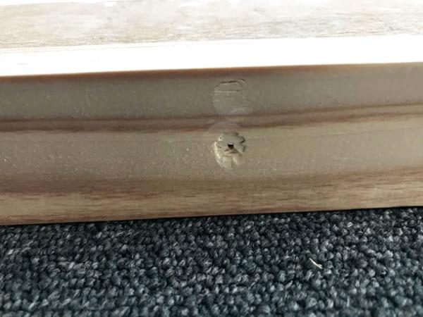 フェリシモ女子DIY部 へリンボーン柄天板キットをヘリンボーンじゃない天板にしてみた11