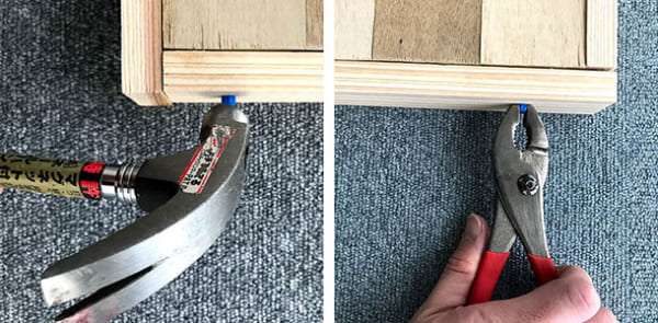 フェリシモ女子DIY部 へリンボーン柄天板キットをヘリンボーンじゃない天板にしてみた12