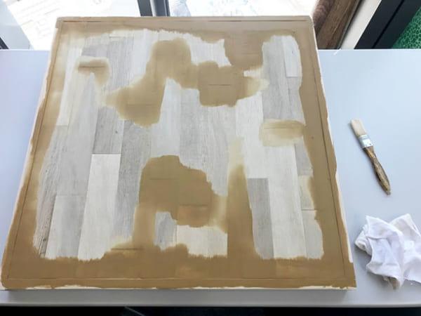 フェリシモ女子DIY部 へリンボーン柄天板キットをヘリンボーンじゃない天板にしてみた16