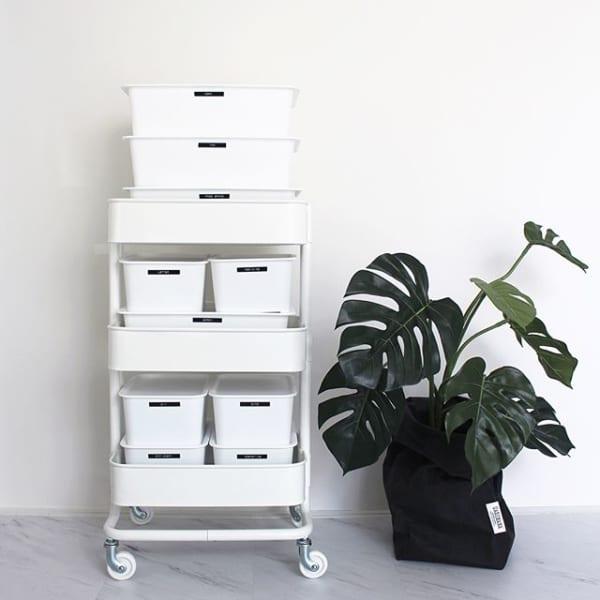 【IKEA】ワゴン×【100均】ボックス
