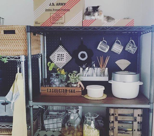 炊飯器収納5