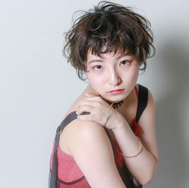 ベリーショートのパーマスタイル【前髪あり】4