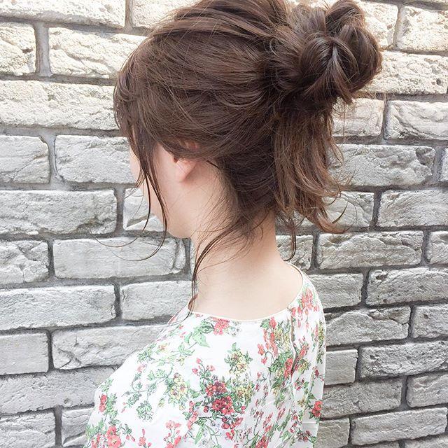 ミディアムのまとめ髪⑤お団子6
