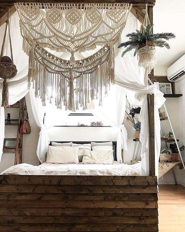 南国気分の寝室