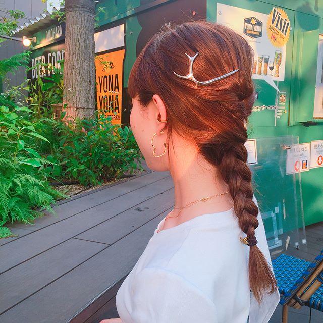 ロングヘアのまとめ髪①ポニーテール・編み込み8