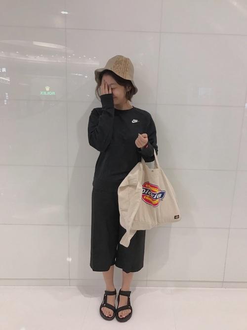 【ナイキ】×ワイドパンツコーデ