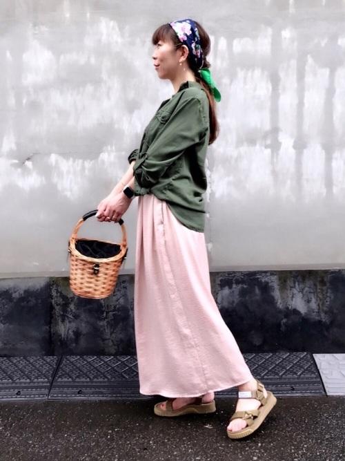 【プチプラ】GUパンツ×ミリタリーシャツコーデ
