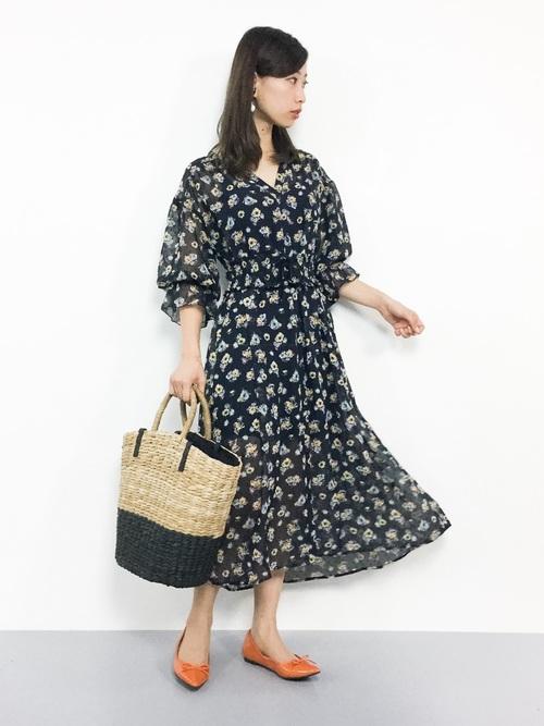 w closet 小花柄ワンピース