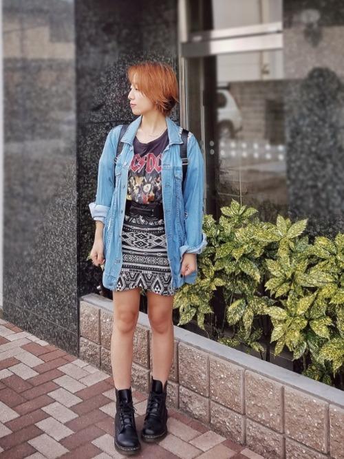 40代におすすめ【ネイティブ柄ミニスカート】