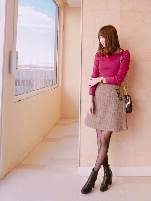 30代におすすめ【チェック柄ミニスカート】