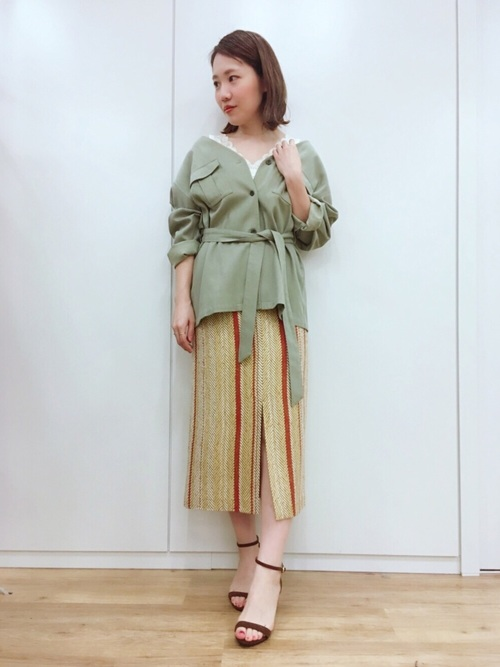 [apart by lowrys] TeCoミリタリーシャツジャケット 782154