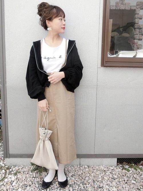 春向け・22度の日の旅行のカジュアルな服装