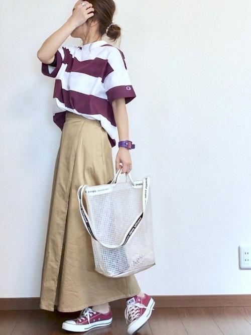 《初夏》気温27度の服装:スカートスタイル 晴れ