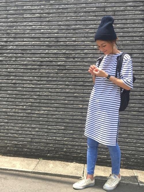 青ニット帽2