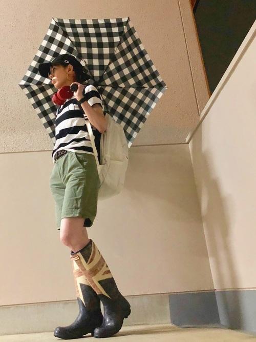 長靴が主役♡大人女子のショートパンツコーデ