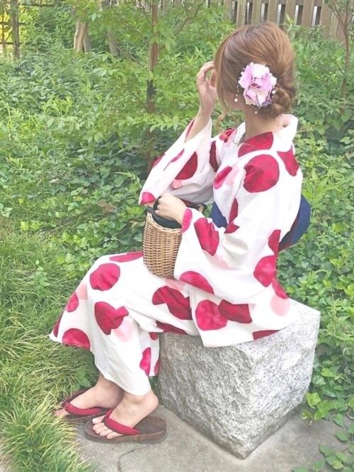 お祭りにおすすめの浴衣コーデ2