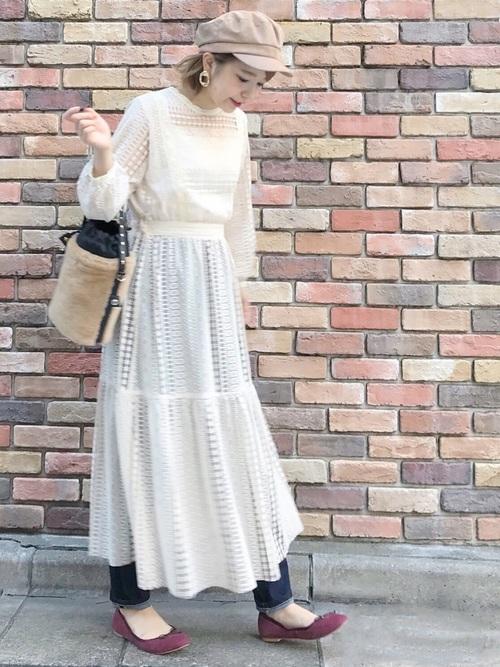 気温23度の服装 ロングワンピースコーデ2