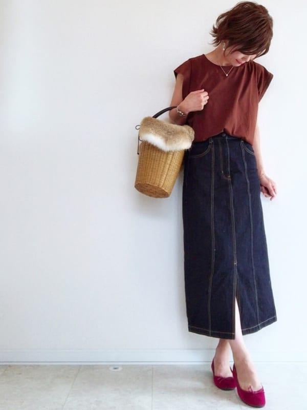 体型カバーのIライン♡タイトスカート