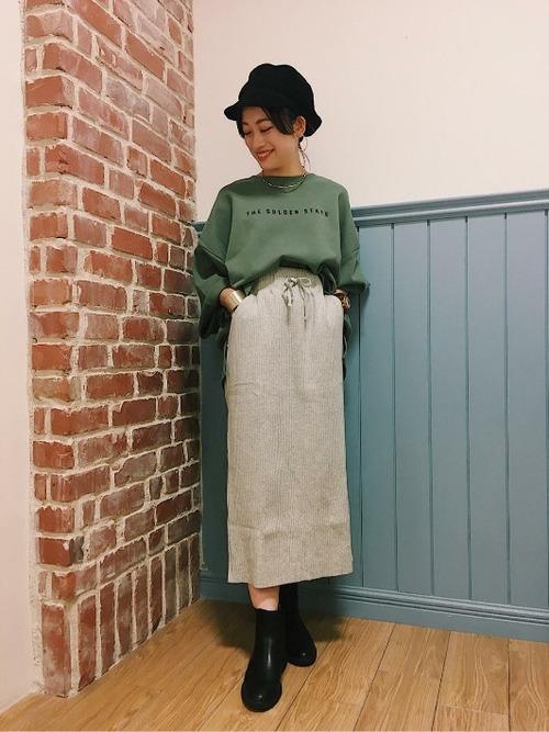 [LOWRYS FARM] ヘンケイワッフルカットスカート 807242