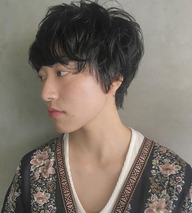ベリーショートのパーマスタイル【前髪あり】3