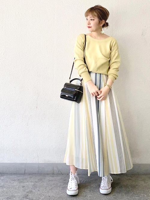[archives] マルチストライプスカート