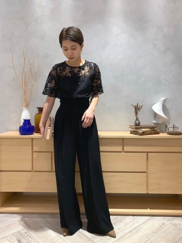 [LAGUNAMOON] LADYオーバーレースワイドパンツドレス【ZOZO限定】