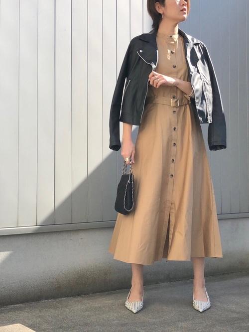 ZARA マキシ丈 ワンピースコーデ3