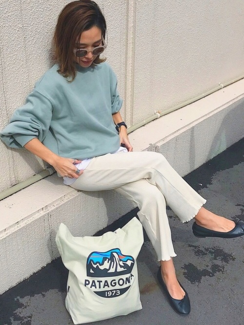 [RETROGIRL] 裾メロウリブパンツ