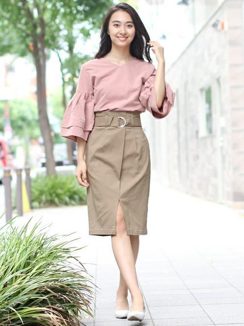[fellini] のびのびスリットタイトスカート