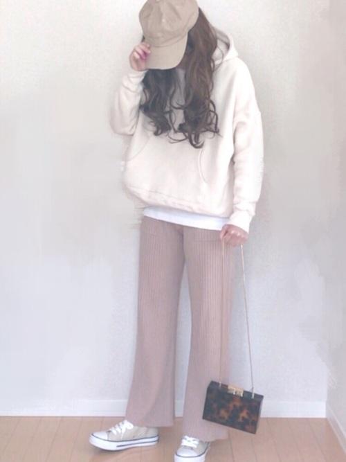 【プチプラ】GUパンツ×パーカーコーデ