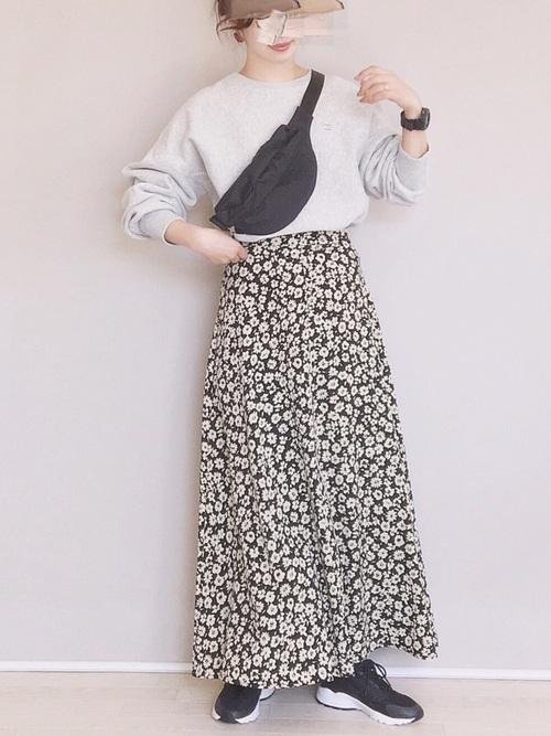 [LOWRYS FARM] ハナクルミボタンAラインスカート 828989 2