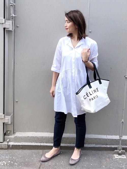 【ZARA】ホワイトシャツワンピース