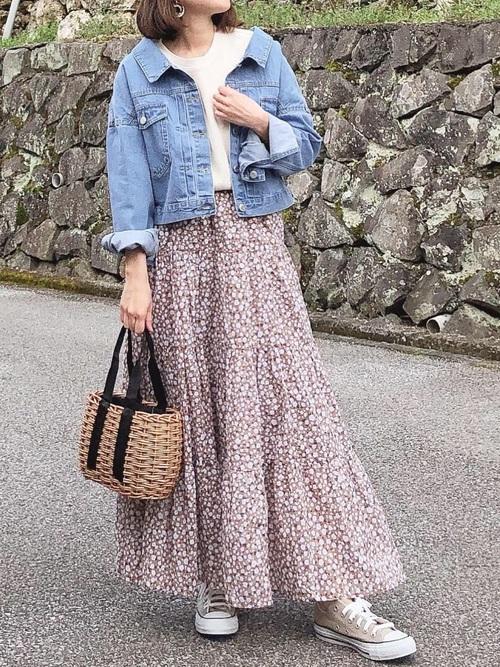 GU 花柄スカート5