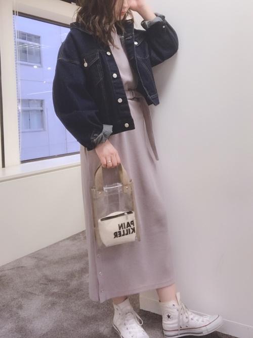 [natural couture] スナップボタン付ワッフルワンピース2