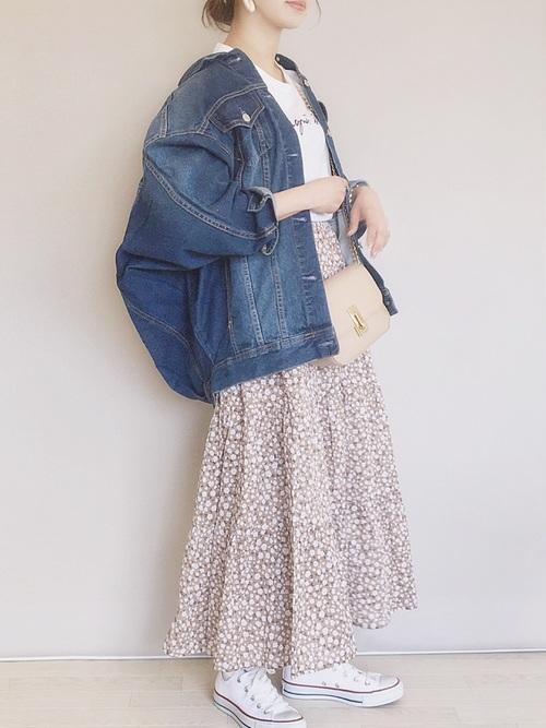 GU 花柄スカート4