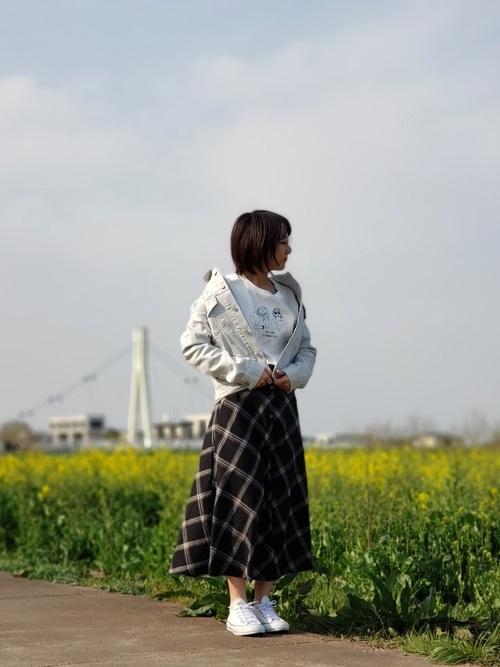 ユニクロデニム×大人女子2