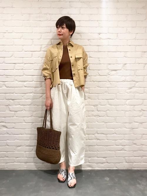 [CIAOPANIC] CPOシャツ/綿ツイルフラップポケット付きシャツ/ビッグシルエット2