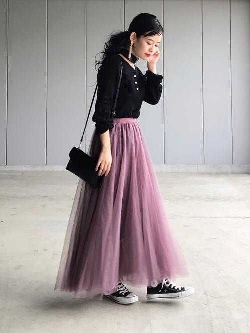 ピンクスカート フェミニン