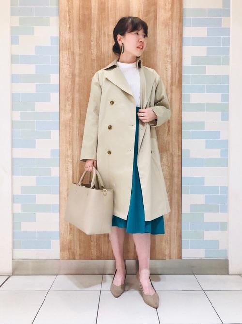 [Te chichi] デザインタックフレアスカート