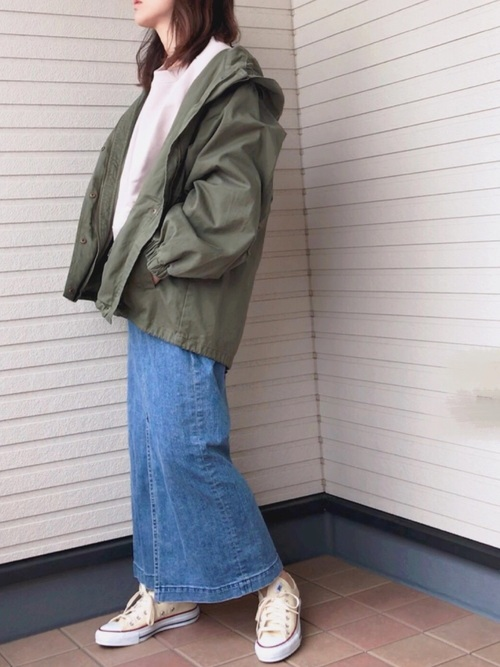 [Divinique] YANUK スリットロング デニムスカート/57191033