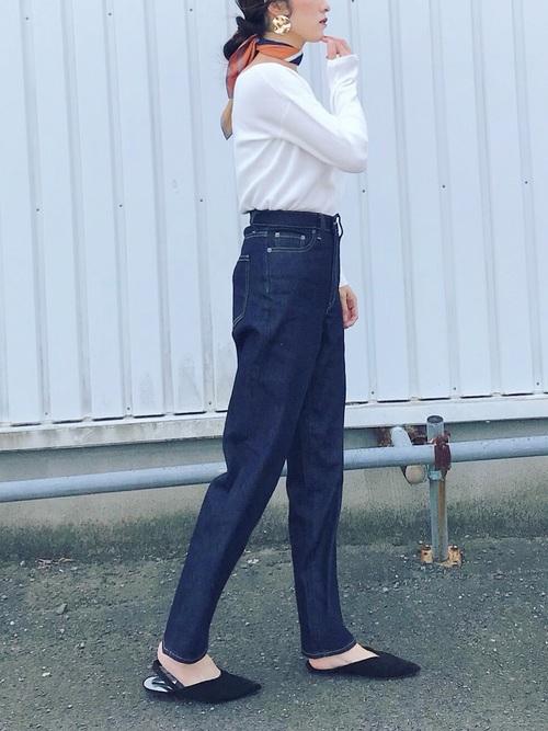 ユニクロデニム×大人女子7