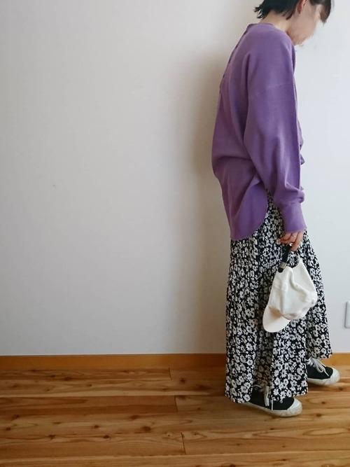 [しまむら] 花柄 プリーツスカート5