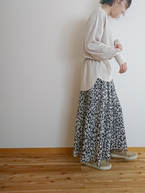[しまむら] 花柄 プリーツスカート6