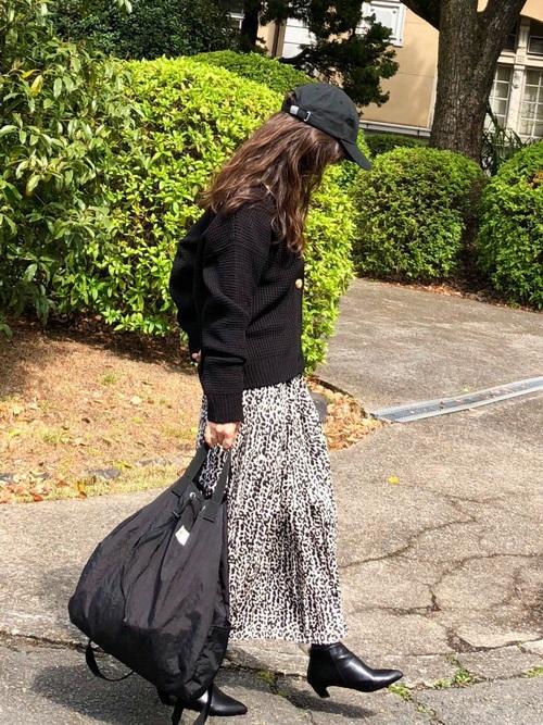 レオパード柄スカート2