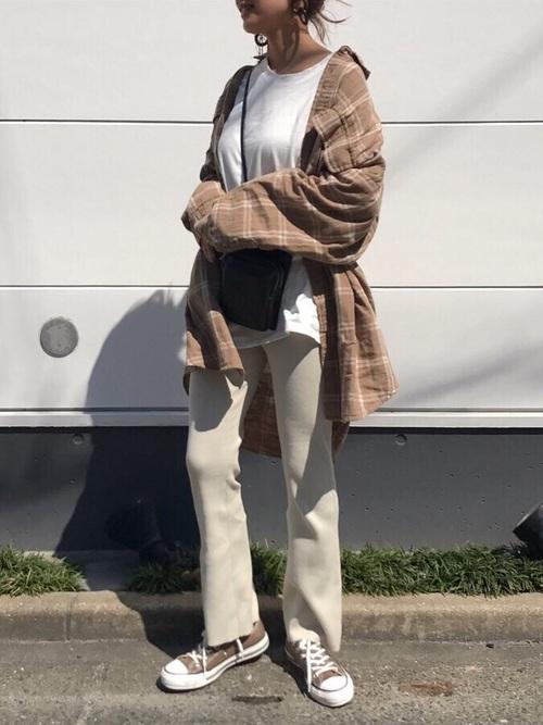 [MOUSSY] FLARE RIB PANTS
