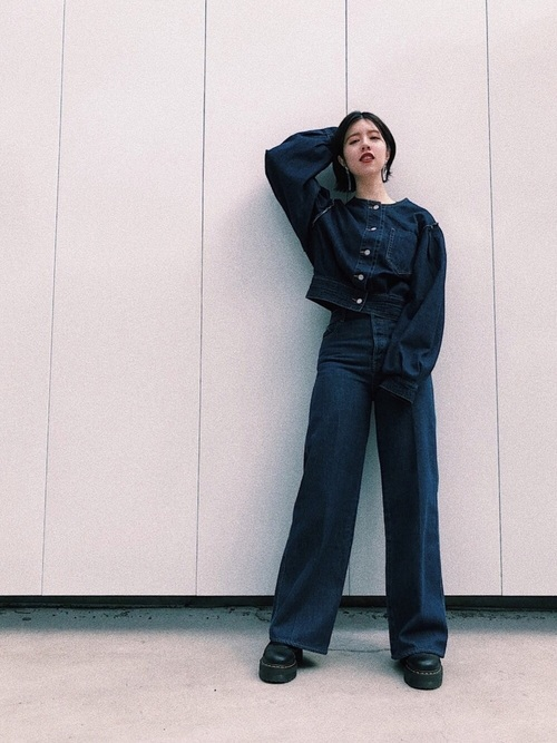 [MOUSSY] HI WAISTED WIDE LEG PANTS