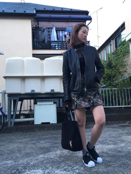 40代におすすめ【花柄ミニスカート】