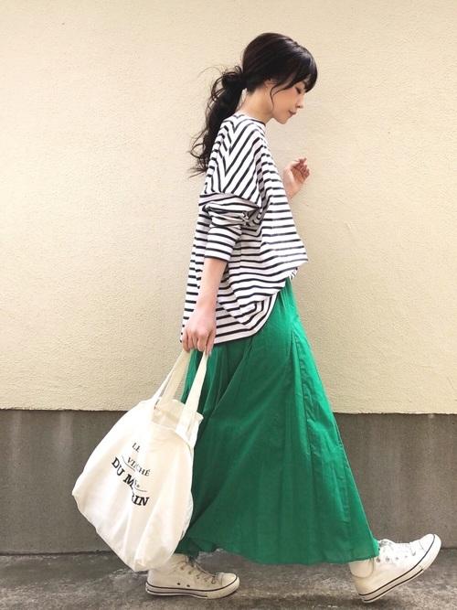 [SHIPS for women] Khaju:ガセットフレアスカート◇